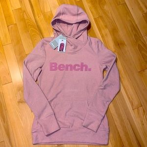 BENCH Pink Fleece Hoodie NWT - size Small